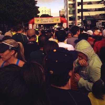 Oakland Running Festival Start Line 2014
